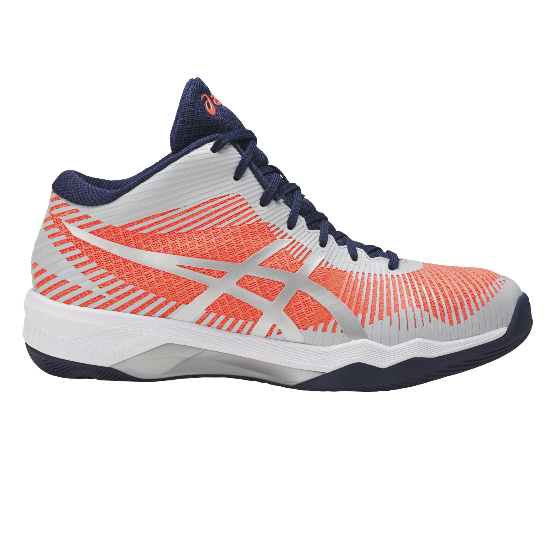 ASICS VOLLEY ELITE FF MT W DONNA FLASH CORAL GLACIAL GREY INDIGO ... f8b7398792a